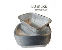 50 stuks aluminium vetopvangbakjes S'MART 15x22cm smoothwall