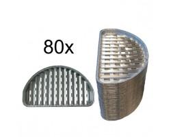 80 stuks aluminium halfronde grillschalen S'MART Prodica Holland