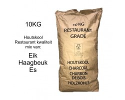 Horeca houtskool Eik-Haagbeuk-Es 10kg craft maat 40-150