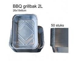 S'MART Grillschaal/ aluminium bakje 260x190x56mm  50stuks 2L