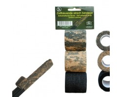 Zelfklevende stretch tape ProLoo 3 rollen 5cmx2mtr -  4,5m uitgetrokken lengte