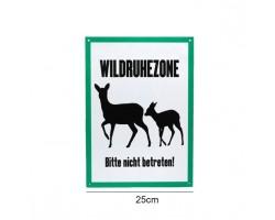 """Signaalbord aluminium """"Wildruhezone"""" maat 25 x 35 cm - 2mm dik - ProLoo"""