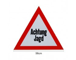 """Signaalbord aluminium """"Achtung Jagd"""" 56 cm - 2mm dik - ProLoo"""