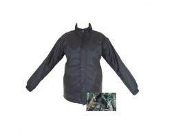Fleece jack windstopper zwart/groen maat M