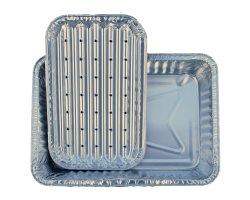 80 stuks aluminium BBQ/oven Stoombakjes S'MART 2x40 stuks 15x22cm