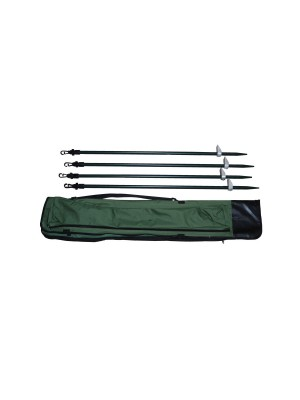 Verstelbare poten aluminium tbv camouflage net 90-180cm 4stuks