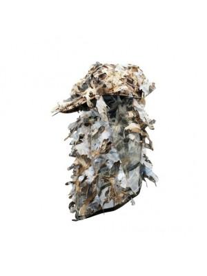 Pet met gezichtscamouflage met 3D blaadjes wetland