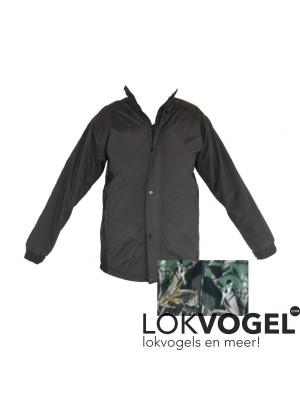 Fleece jack windstopper groen/zwart maat M