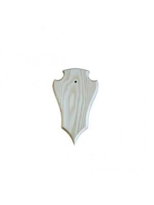 Geweiplank eiken blank maat 22x13x1,8cm incl. kaakuitsparing + schedelklem