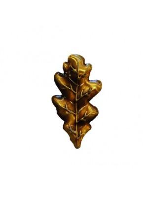 Geweiplankversiering eikenblad 4,5x2,5cm bronskleurig 10stuks