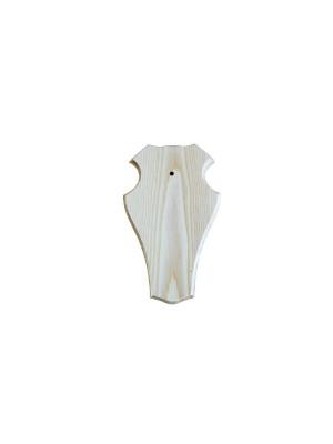 Geweiplank eiken blank gelakt maat 22x13cm, incl. kaakuitsparing + schedelklem