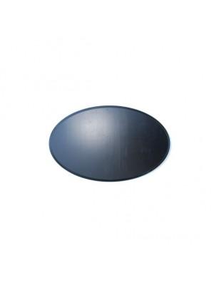 Geweiplank Ovaal 9x12cm 1.8cm zwart
